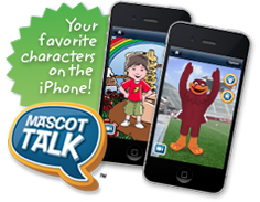 Mascot Talk the iPhone app full of talking mascots