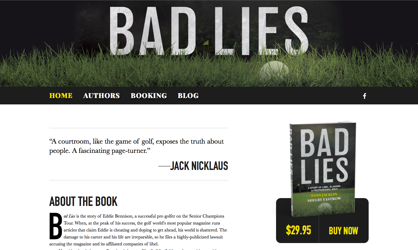 Bad Lies website screenshot